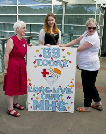 Giant Birthday Card Made In Honour Of NHS